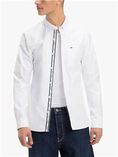 Tommy Jeans Tape Detail Shirt Classic White