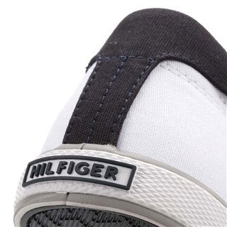 Tommy Hilfiger White Harlow 1d Canvas Trainers