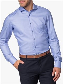 Eterna Slim Fit Dress Shirt Blue