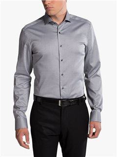 Eterna Slim Fit Dress Shirt Grey