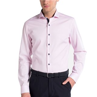 Eterna Pink Slim Fit Pinpoint Formal Shirt