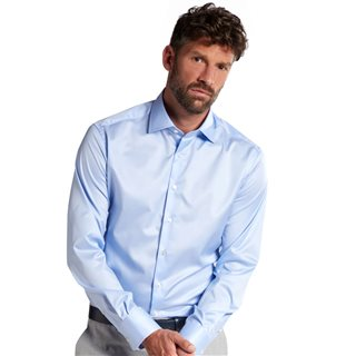 Eterna Light Blue Modern Fit Dress Shirt
