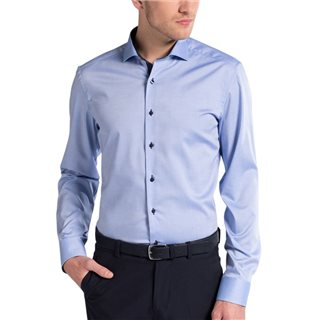 Eterna Light Blue Slim Fit Dress Shirt