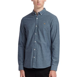 Farah Blue Bell Steen Slim Fit Brushed Cotton Oxford Shirt