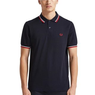 Fred Perry Navy / White / Red Twin Tipped Polo