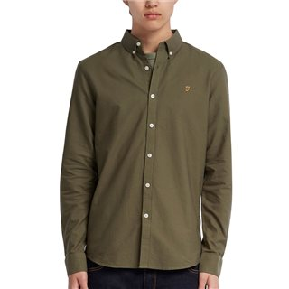 Farah Military Green Brewer Shirt