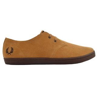 Fred Perry Byron Low Suede Trainer Sahara