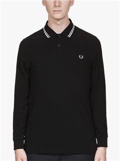 Fred Perry M3636 Twin Tipped Long Sleeve Polo Black