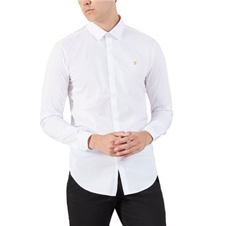 Farah Tailoring White Swinton Super Slim Dress Shirt