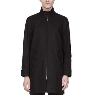 Fred Perry Harrington Overcoat Black