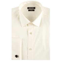 Remus Uomo Clothing Double Cuff Shirt Ivory