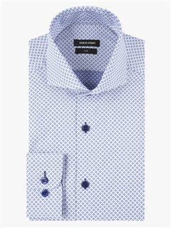 Remus Uomo Rome Slim Fit Formal Shirt Blue
