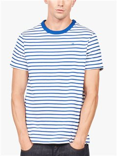 G-Star Xartto Submarine Stripe T-Shirt White / Hudson Blue