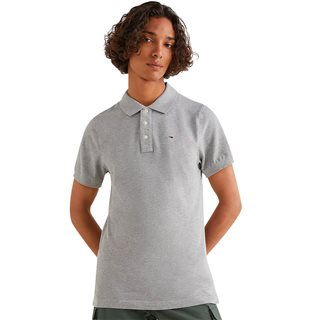 Tommy Jeans Light Grey Heather Original Pique Polo Shirt