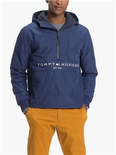 Tommy Hilfiger Padded Logo Anorak Medievel Blue