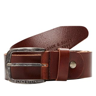 Jack And Jones Accessories Black Coffee Leather Belt