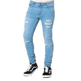 Level 1 Stone Ripped Skinny Jeans
