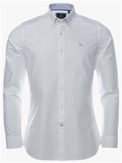 Magee 1866 Oxford Tailored Fit Shirt Solid White