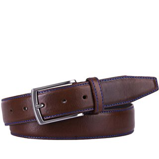 Michaelis Cognac Royal Stitch Leather Belt