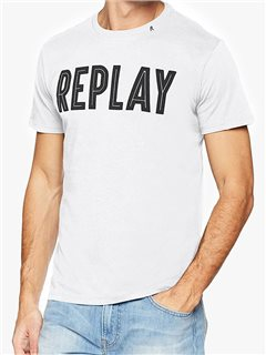 Replay Logo Carrier T-Shirt White