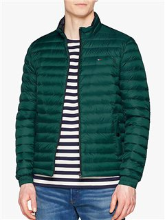 Tommy Hilfiger Light Weight Packable Down Bomber Forest Biome