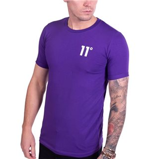 11 Degrees Purple Core Muscle Fit T-Shirt