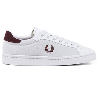 Fred Perry Lawn Leather / Mesh White