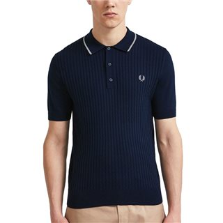 Fred Perry Dark Knight Tipped Knitted Polo