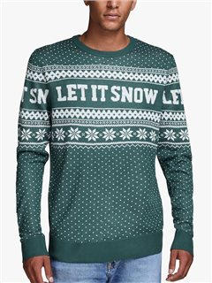 Jack & Jones Originals Green Christmas Knitted Pullover