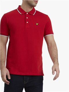 Lyle & Scott Tipped Polo Shirt Red
