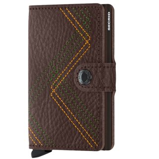 Secrid Espresso Linea Stitch Mini Wallet