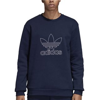 adidas Originals Navy Outline Crew Neck Sweat Top