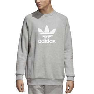 adidas Originals Grey Trefoil Warm-Up Crew Sweatshirt