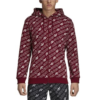 adidas Originals Collegiate Burgundy Monogram Zip Hoodie