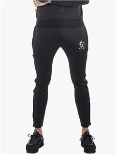 Gym King Piped Poly Pants Black