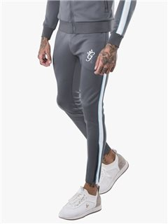 Gym King Piped Poly Pants Grey
