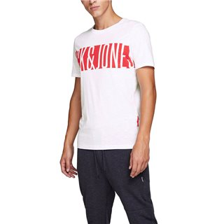 Jack & Jones Core White Logo Print T-Shirt
