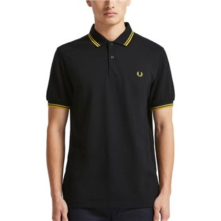 Fred Perry Black Twin Tipped Polo