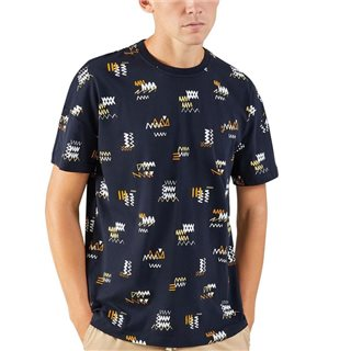 Farah True Navy London Printed T-Shirt
