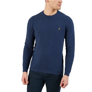 Farah Yale Marl Orbital Crew Neck Sweater