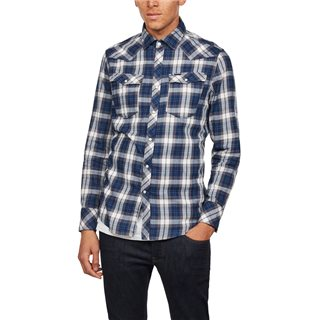 G-Star Indigo 3301 Slim Check Shirt