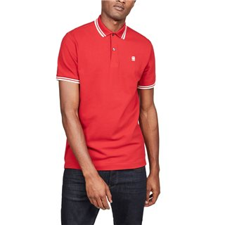G-Star Deep Flame Dunda Slim Tipped Polo Shirt