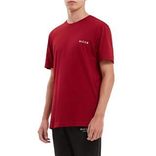 Nicce Red Chest Logo T-Shirt