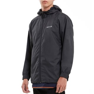Nicce Black Full Zip Windbreaker