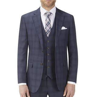 Skopes Navy Moseley Check Suit Jacket