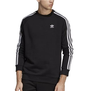 adidas Originals Black 3-Stripe Crew Neck Sweater