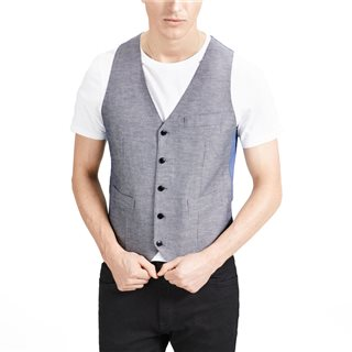 Jack & Jones Premium Dark Navy Mixed Fabric Casual Waistcoat