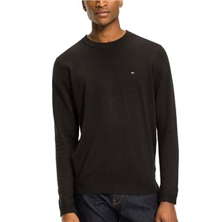 Tommy Hilfiger Flag Black Regular Fit Crew Neck Jumper