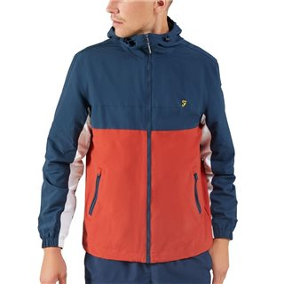 Farah Yale Bonnett Colour Block Jacket