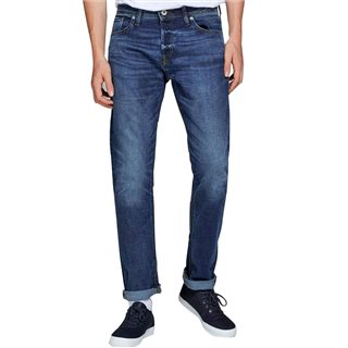 Jack & Jones Intelligence  Blue Denim Mike 771 Comfort Fit Jean